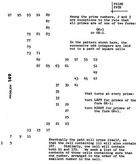 Problem 149, from Popular Computing Vol. 4 No. 12, December 1976
