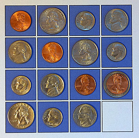 adjusted configuration after one coin is moved
