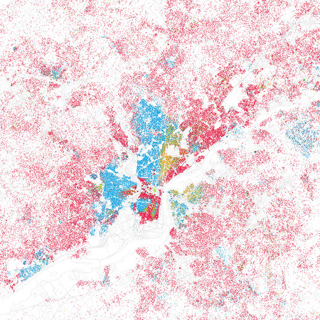 Eric Fischer map of race and ethnicity in Philadelphia