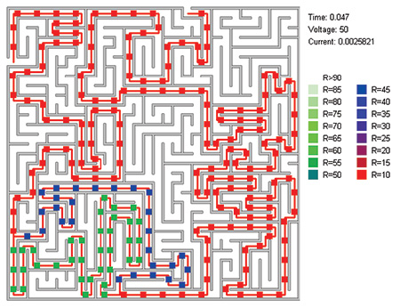 two-solution maze, illustration courtesy . V. Pershin and M. Di Ventra