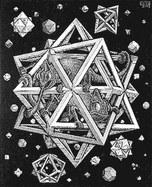 Stars, engraving by M. C. Escher, from Wikipedia