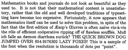 Knuth TeX specimen 1980 450px