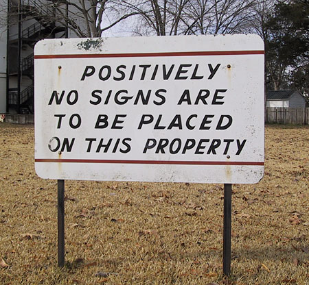 Sign reading