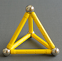 Geomags model of a tetrahedron