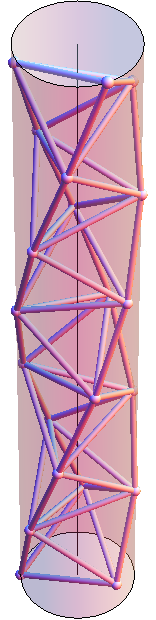 Tetrahelix in cylinder 156x620