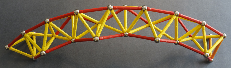Zigzag helix bridge