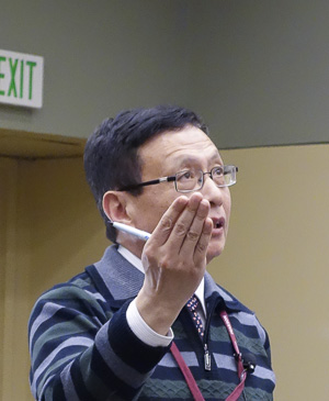 Yiting Zhang speaking at the Joint Mathematics Meetings, 2014-01-16