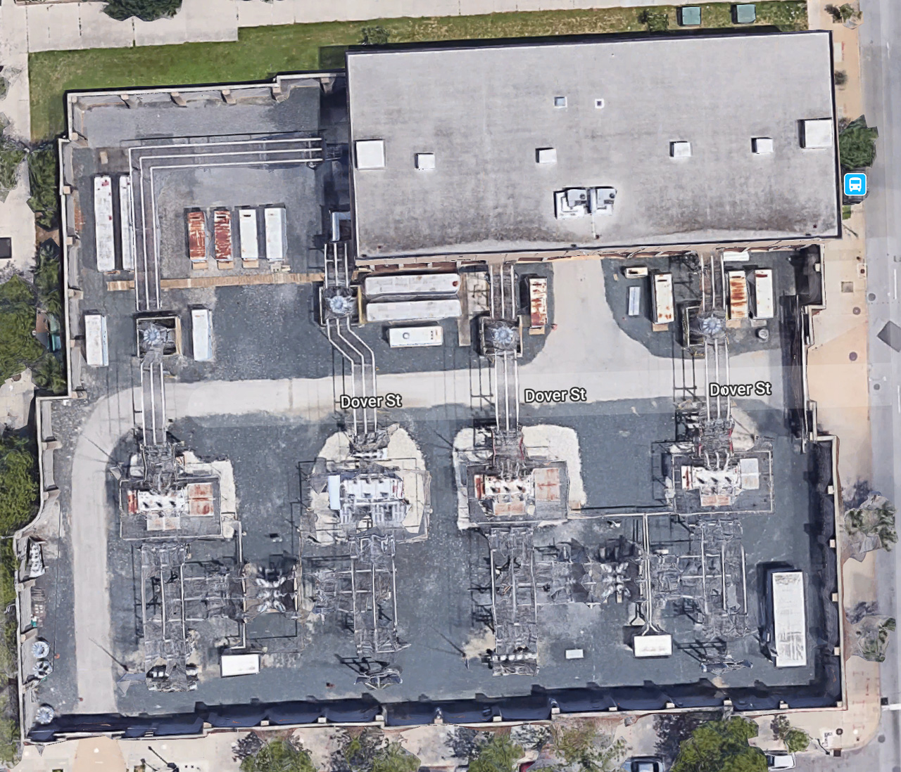 Google Maps view of Greene Street substation